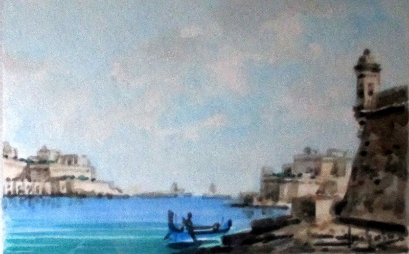 The Grand Harbour. Detail.