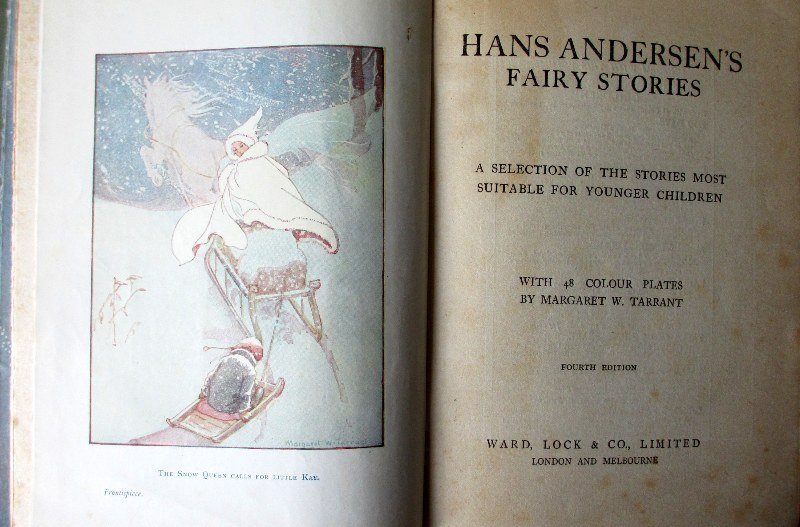 Hans Andersen's Fairy Stories 4th Edn, c1930. Frontispiece and title page.