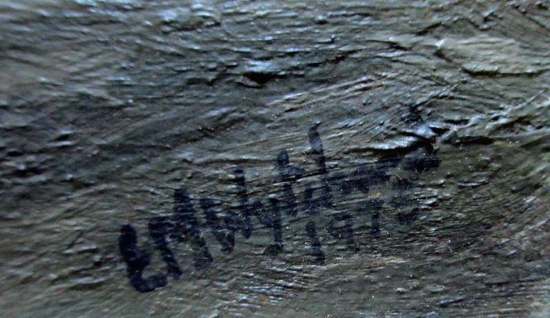 mv Beacon Grange, detail. Signature.