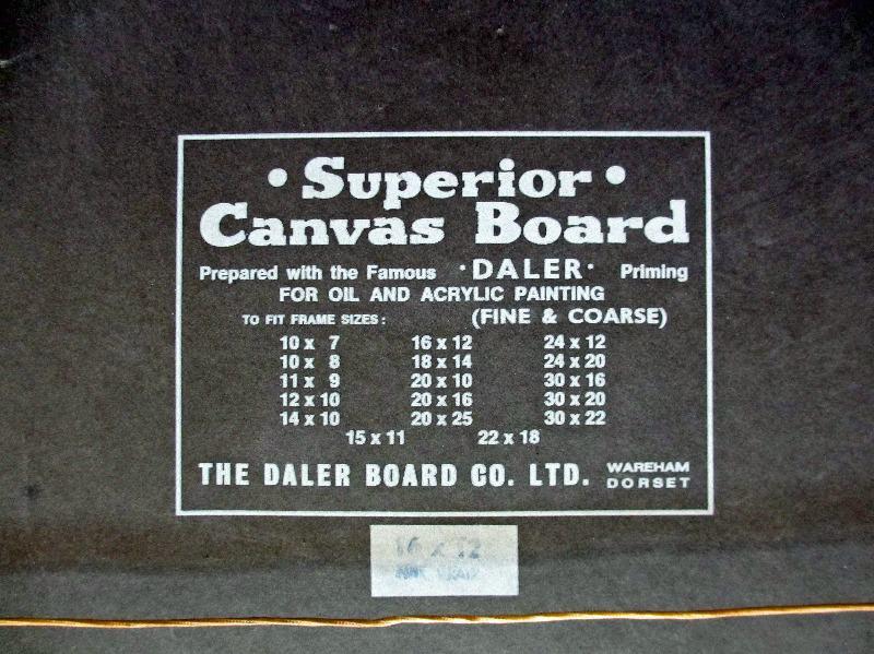 mv Beacon Grange, detail. Frame, verso. Daler board label.