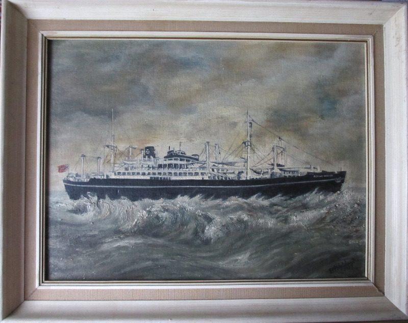 Beacon Grange, oil on board, signed EM Wytchard, 1975.