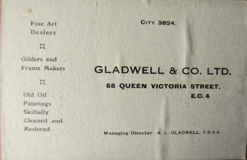 Clovelly, watercolour and gouache on paper, signed Garman Morris c1900. Framer's label.