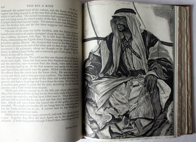 Seven Pillars of Wisdom, T.E. Lawrence. 1935, 1st Edn., 4th Impression. Sample pages.