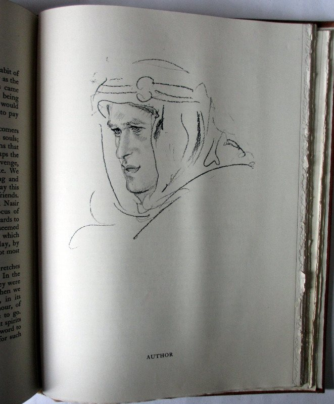 Seven Pillars of Wisdom, T.E. Lawrence. 1935, 1st Edn., 4th Impression. T.E.L. sketch.