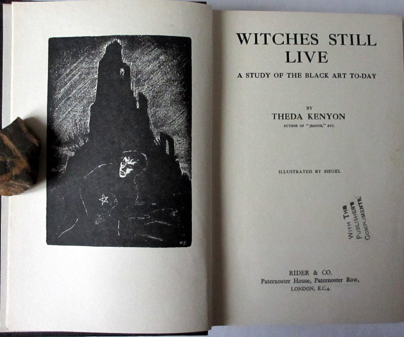 Witches Still Live, Theda Kenyon, 1931.1st Edn. Sold 04.03.2014