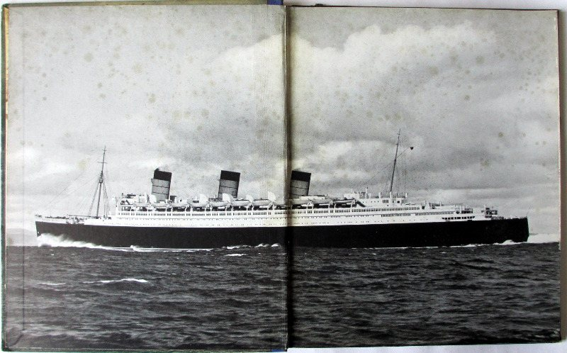 RMS Queen Mary, A Record in Pictures 1930 to 1936. 1st Edition, 1936.