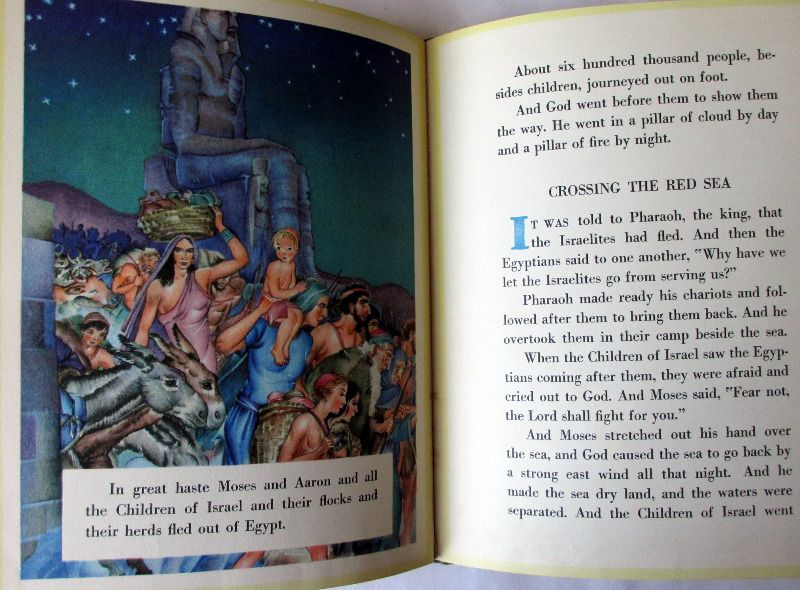 Moses, Bible Stories by Maud and Miska Petersham, 1938. Sample pages.