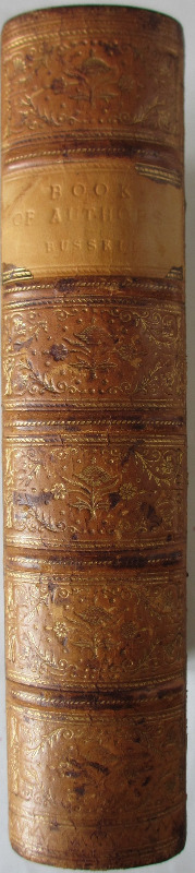 The Book of Authors, W.C. Russel, 1869. Spine.