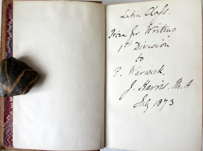 The Book of Authors, W.C. Russel, 1869. Handscript.