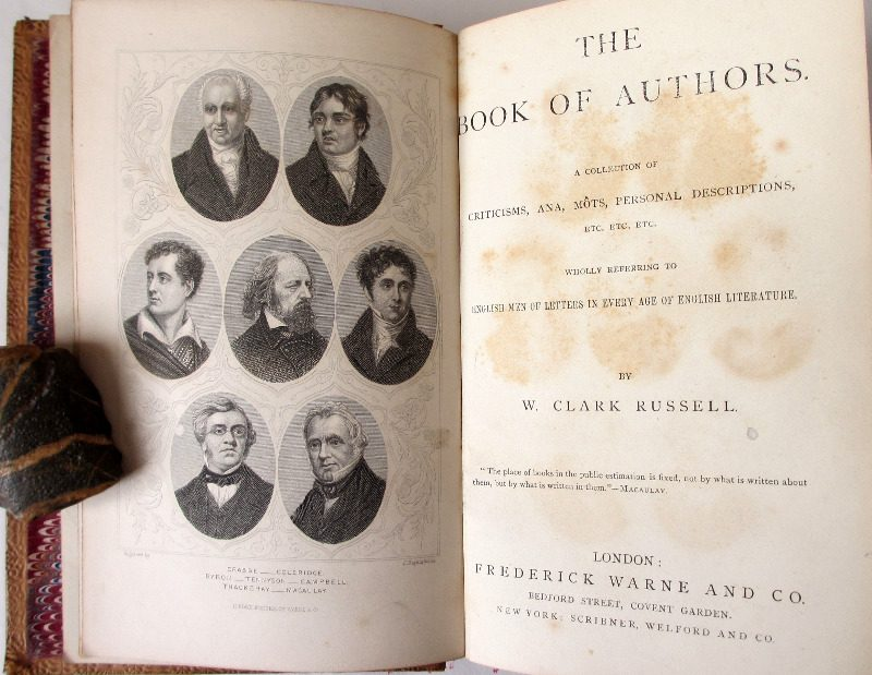 The Book of Authors, W.C. Russel, 1869.