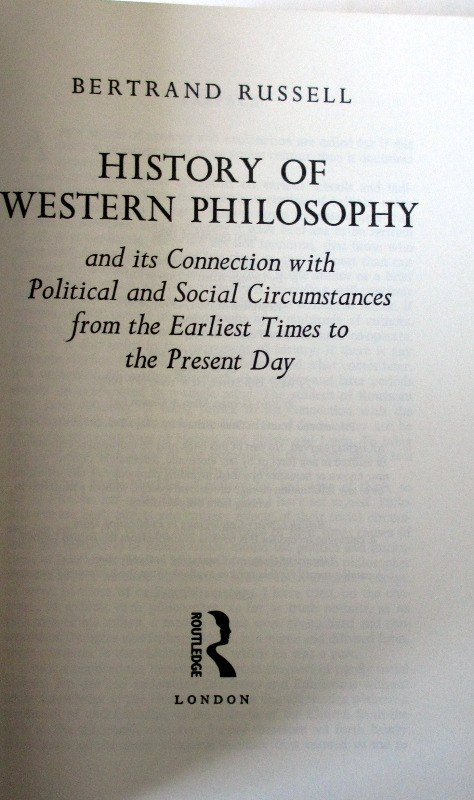 History of Western Philosophy by Bertrand Russell, 1994.