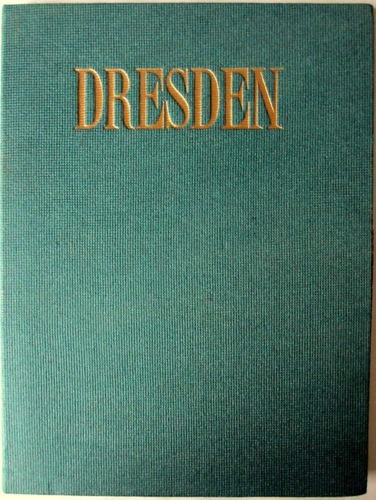 18 Black & White Matt Photographs of Dresden in Folder. c1960.