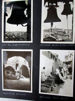 Photograph Album 1943-1945, Jerusalem, Bethlehem, Alexandria, El Kirsh, Malta.  SOLD  24.05.2014.