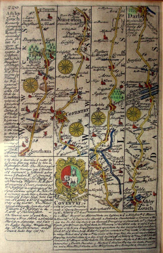 The Road via Southam, Princethorpe, Coventry, Nuneaton, Atherston, Ashby de