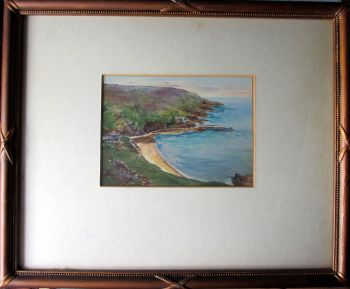 Bouley Bay, Jersey, watercolour on paper, attrib. to Garman Morris. c1930.