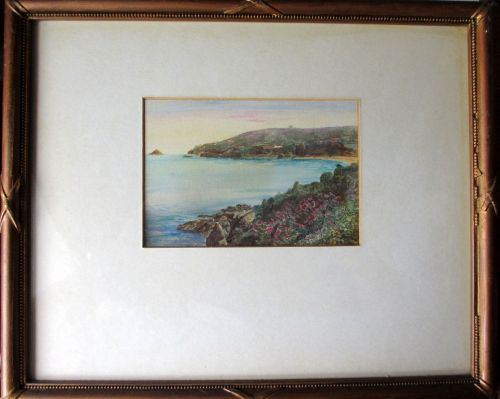Anne Port Bay, Jersey, watercolour on paper, attributed to Garman Morris. c