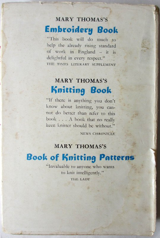 Mary Thomas's Dictionary of Embroidery Stitches, H&S, 1959.