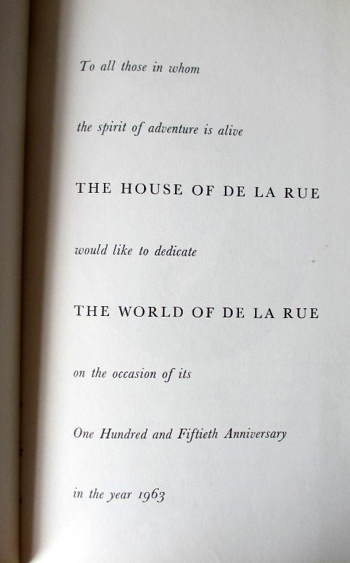 The World of De La Rue 1963. Detail.