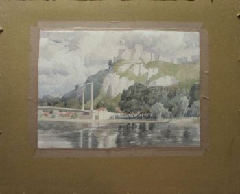 Chateau Gaillard, Upper Normandy, France, watercolour, signed Paul Smyth, c1929.  SOLD  22.03.2016.
