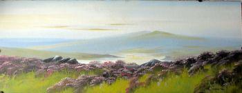 Moorland Landscape, gouache on board, signed T. Newton. c1980. Framed.