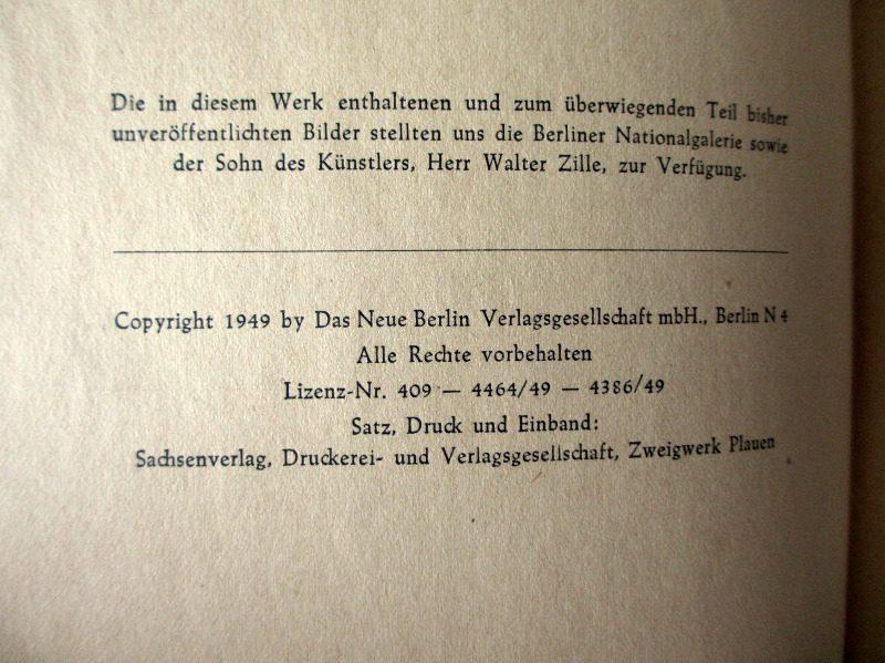 Heinrich Zille. Studien, 1949. Detail.