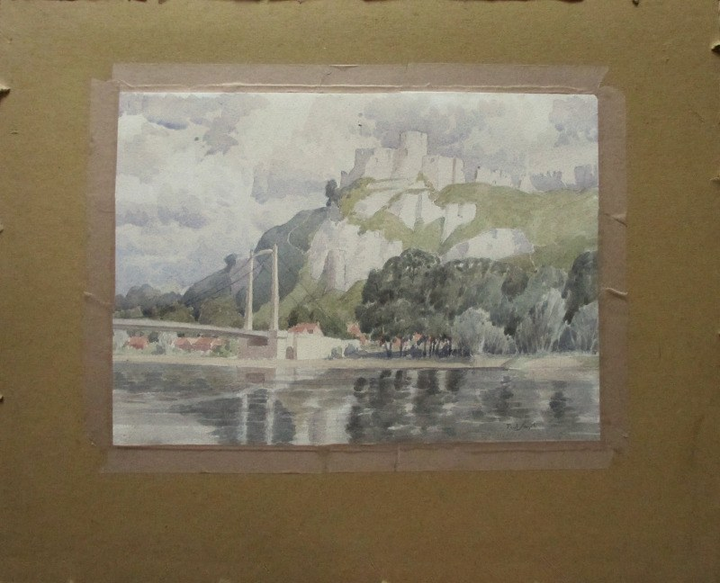 Chateau Gaillard, Upper Normandy, France, signed Paul Smyth, c1929.