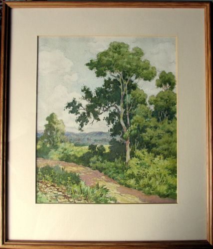 English Landscape, watercolour and pencil, signed Dudley Tennant. c1930. Fr