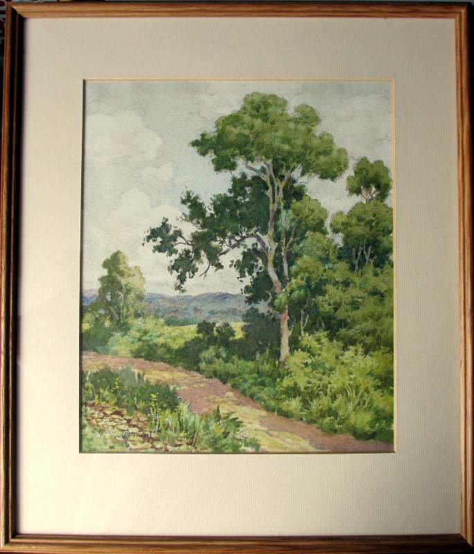 English Landscape, watercolour and pencil, signed Dudley Tennant, c1930.