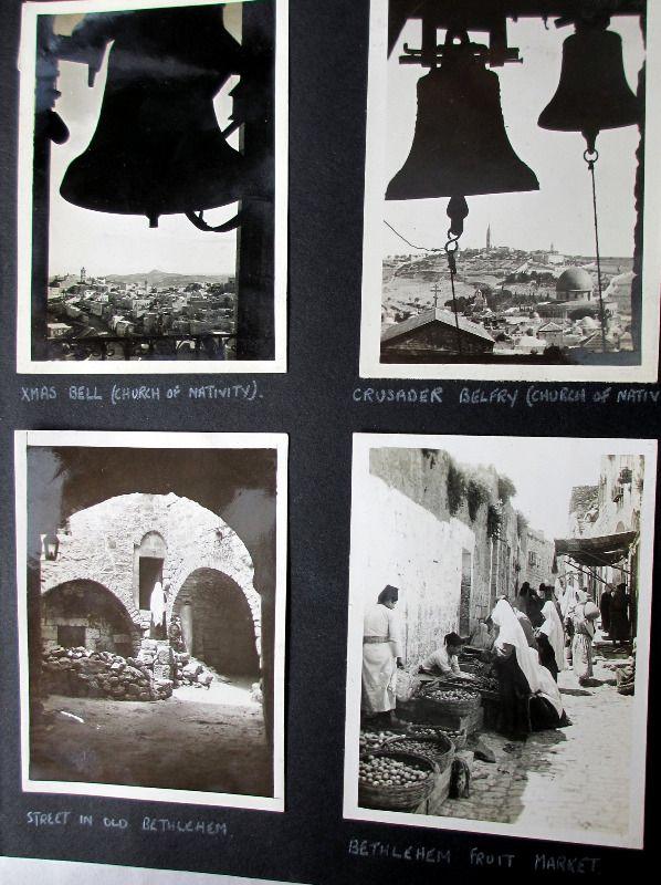 Photograph Album 1943-1945 Jerusalem Bethlehem Alexandria El Kirsh Malta.