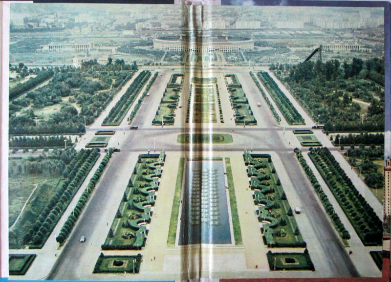 Moscow, 36 colour plates, c1957. Paste-down