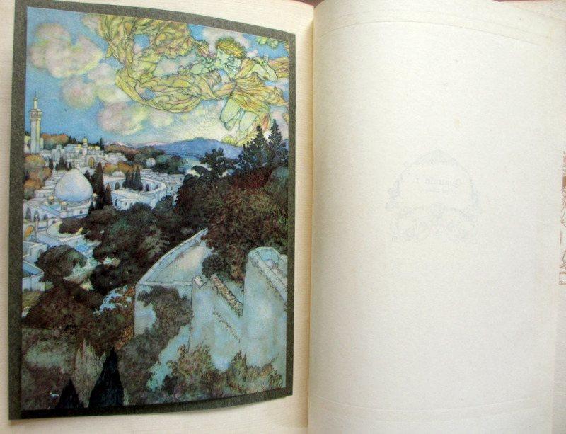 Rubaiyat of Omar Khayyam, Fitzgerald with Edmund Dulac, 1910. Frontispiece.