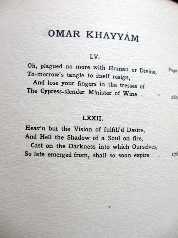 Rubaiyat of Omar Khayyam, Fitzgerald with Edmund Dulac, 1910. List of Illustrations.