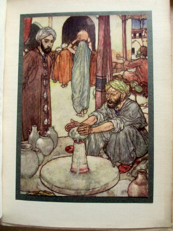 Rubaiyat of Omar Khayyam, Fitzgerald with Edmund Dulac, 1910. Colour plate.