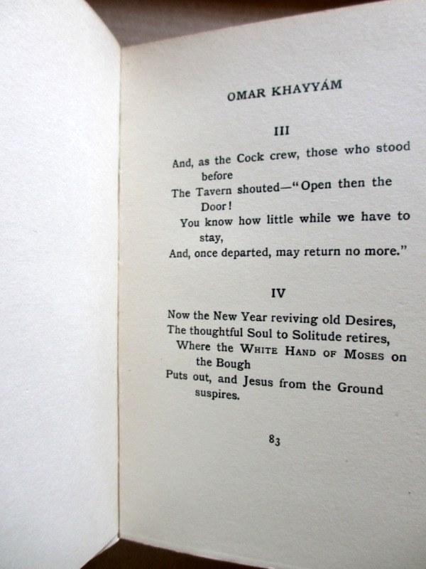 Rubaiyat of Omar Khayyam, Fitzgerald with Edmund Dulac, 1910. Sample page.
