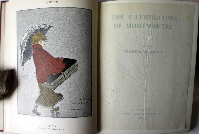 The Illustrators of Montmartre by Frank L. Emanuel, 1904. 1st Edition. Frontispiece.