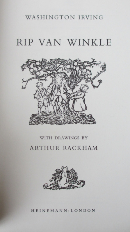 Rip Van Winkle, Washington Irvind, illustrations by Arthur Rackham, 1974. Detail.