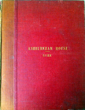 Ashburnham House & the Precincts of Westminster Abbey by Harry Sirr, R.I.B.A., 1910.  SOLD  27.01.2015.
