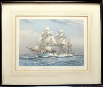 "H.M.S. ""Calliope"", 3rd Class Cruiser, chromolithograph J.S. Virtue & Co. Ltd., 1890."