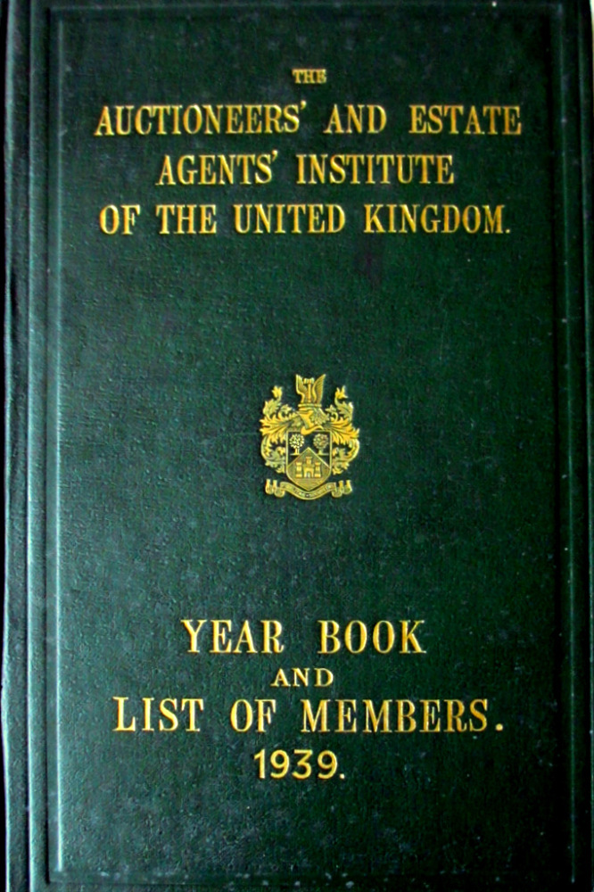 The Auctioneers' & Estate Agents' of the U.K. Year Book 1939.