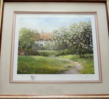 The Rose Briar, Limited Edition Print, 259/850, signed Hilary Scoffield. c1985.   SOLD  27.01.2015.