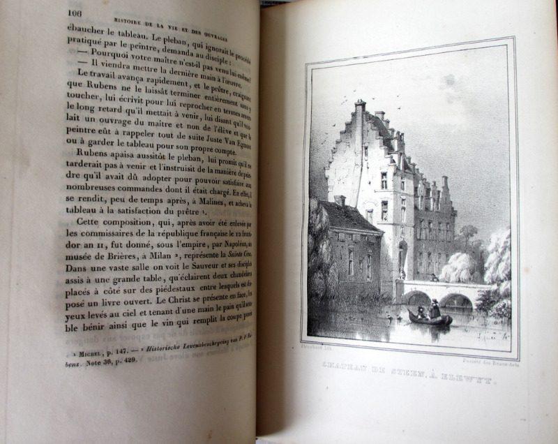 Histoire de P. - P. Rubens, par Andre' van Hasselt, 1840. Detail. Litho plate.