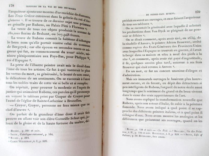 Histoire de P. - P. Rubens, par Andre' van Hasselt, 1840. Detail.