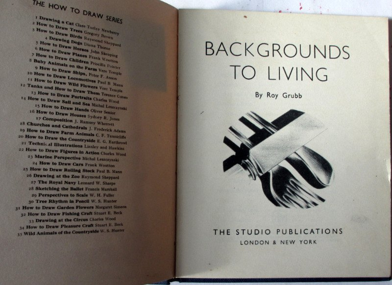 Backgrounds to Living by Roy Grubb, The Studio Publications Ltd., 1956. 1st Edition.