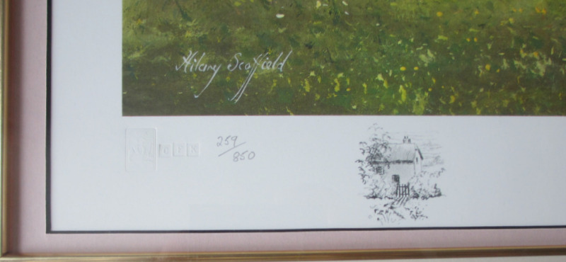 The Rose Briar, limited edition print, signed Hilary Scoffield. c1985. Detail, embossed FATG CFK 259/850