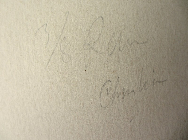 Mdina. The Old City, watercolour on card, signed Jos. Galea Malta 1965. Detail. Base, verso, script.