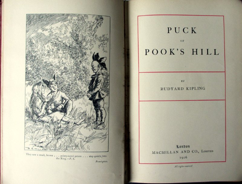 Puck of Pook's Hill Rudyard Kipling, 1906 1st Edition. Detail.