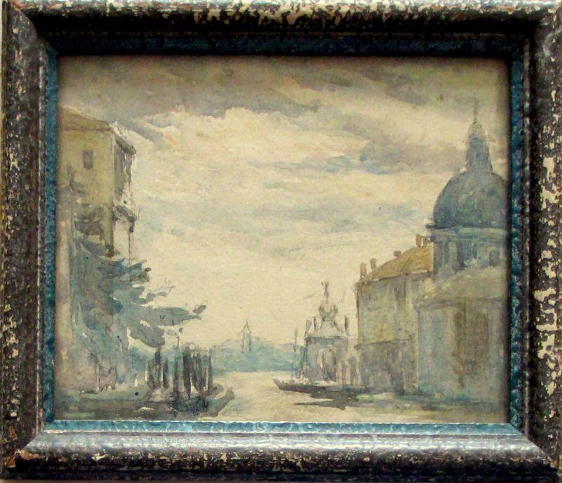 Venice Scene, watercolour, unsigned. Godwin Bennett, c1920.