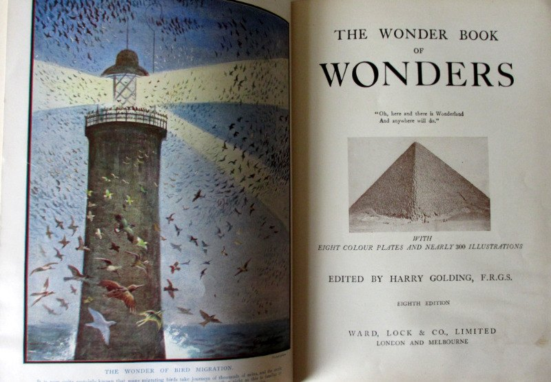 The Wonder Book of Wonders, Harry Golding Ed., c1939. Details.