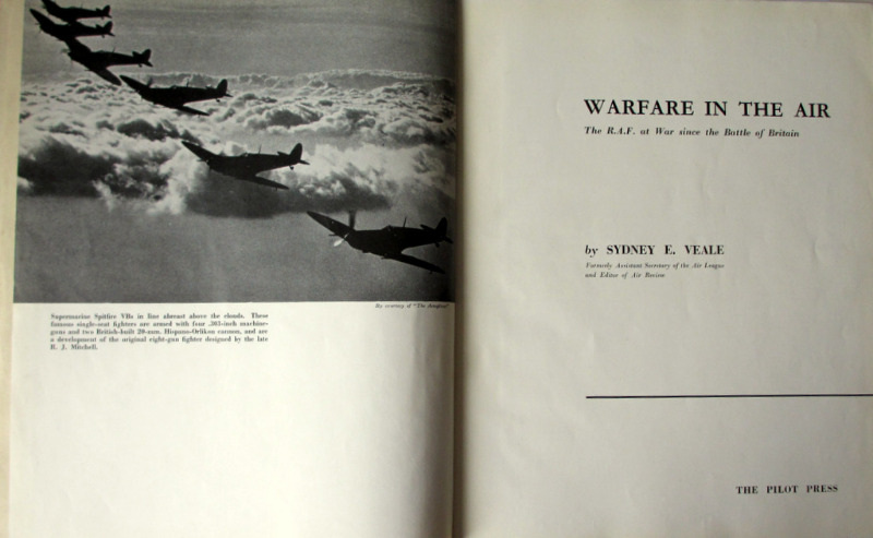 Warfare in the Air, Sydney E. Veale, The Pilot Press, Revised Edition Febr. 1943. Detail.