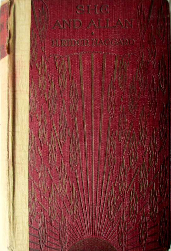 She and Allan, H. Rider Haggard, 5th Edition, 1927. Partially rebound.